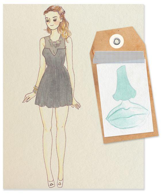 Fashion Illustration - Laguna, Dalí