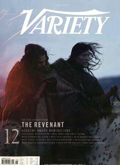 For your consideration - The Revenant. Gefunden in: VARIETY, Nr. 55/2016