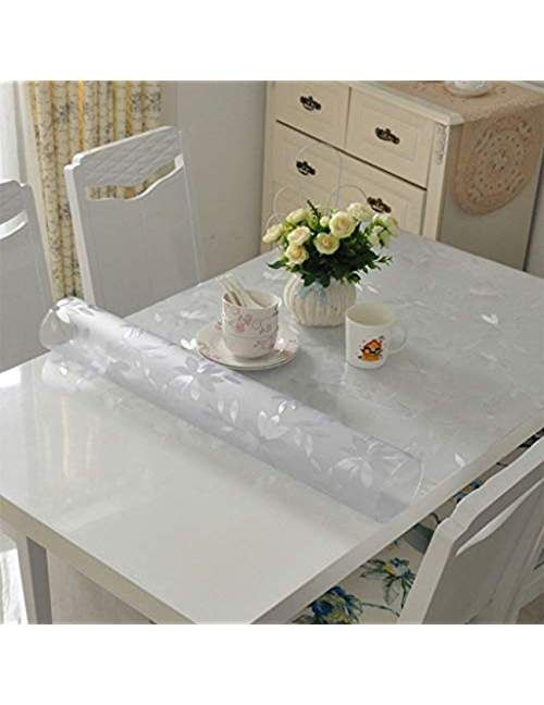 Zuoanchen Tablecloths Rectangle Clear Plastic Tablecloth Pvc Waterproof Kitchen Dining Glass Table Cloths Cover Prot Vinyl Table Covers Glass Table Table Cloth