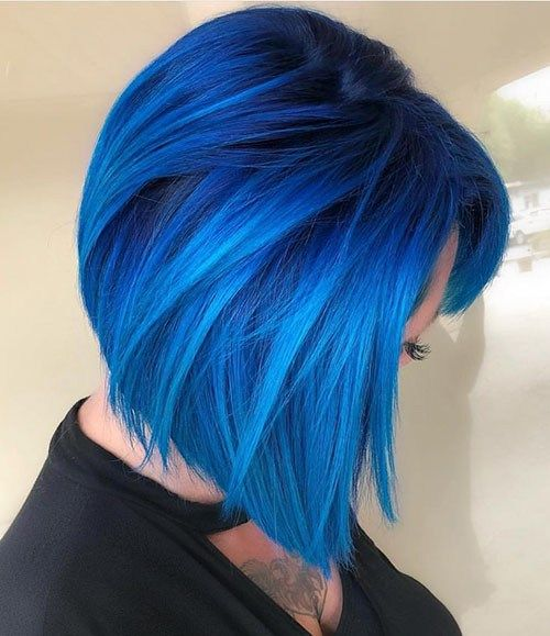 24 Blue Hairstyles For Short Hair Popular Short Blue Hair Ideas In 2019 Hair Styles Light Blue Hair Bold Hair Color