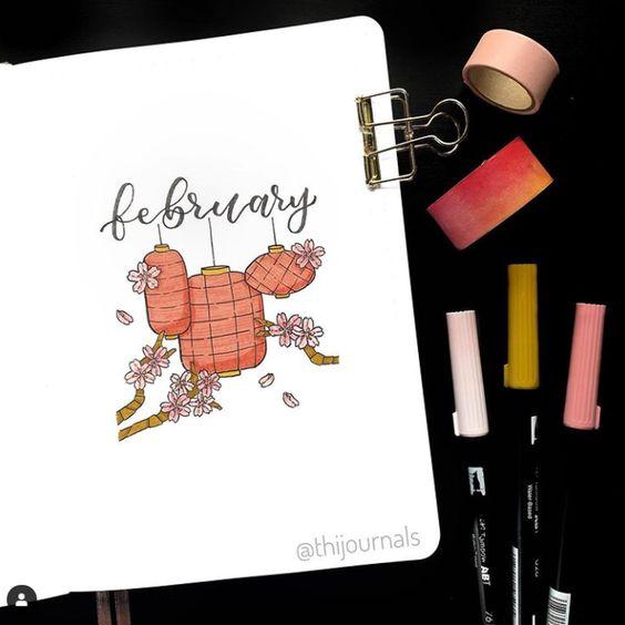 30 idées de pages de février pour votre bullet Journal