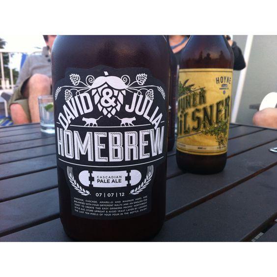 Dave & Julia Home Brew, beer label design by David Manzl | designs ...