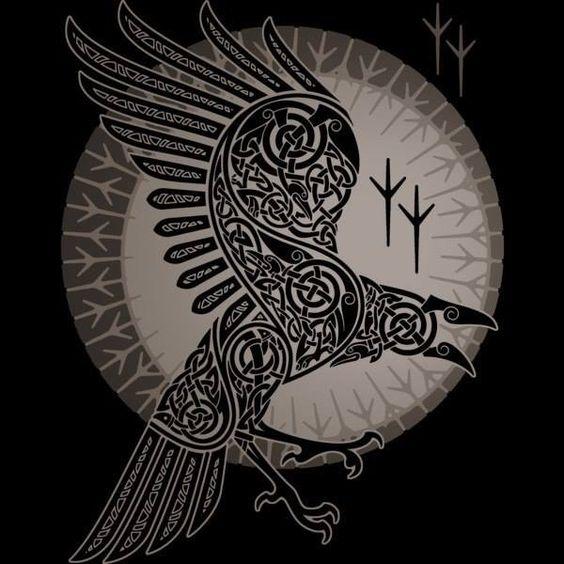 Norse Raven Tattoo | www.imgkid.com - The Image Kid Has It!