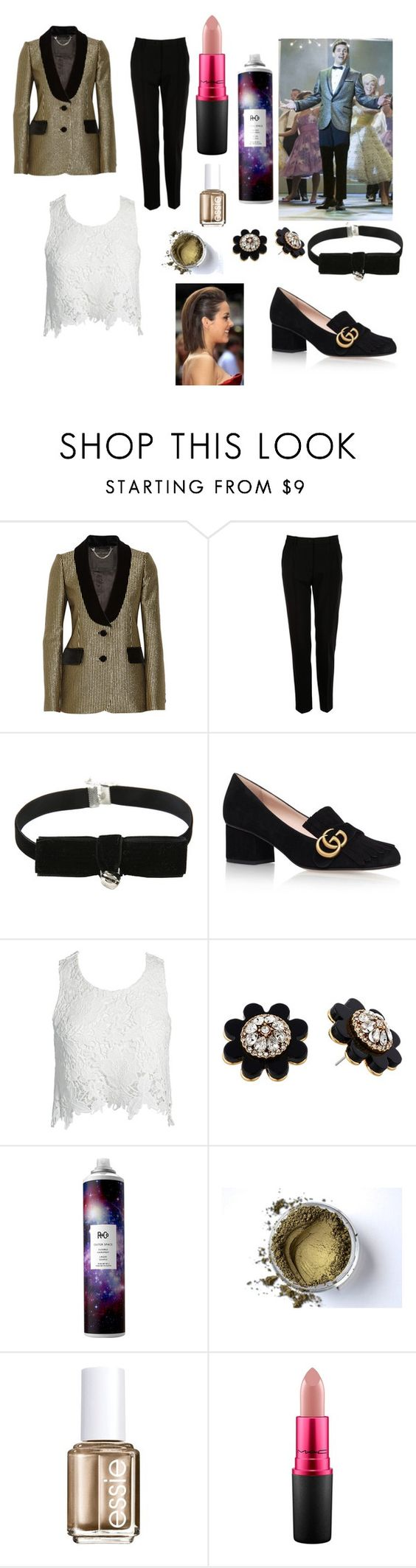 """""""Corny Collins inspired gender swap"""" by mrslexluthorloki ❤ liked on Polyvore featuring Marc Jacobs, Dolce&Gabbana, Gucci, Sans Souci, Kate Spade, R+Co, Essie and MAC Cosmetics"""