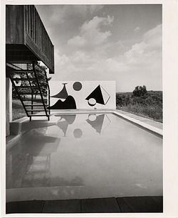 Stillman House I, 1954 / Ben Schnall, photographer. Marcel Breuer papers, Archives of American Art, Smithsonian Institution.