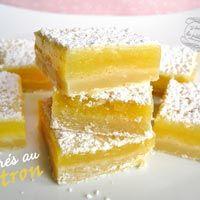 recettes de cuisine carrés citron