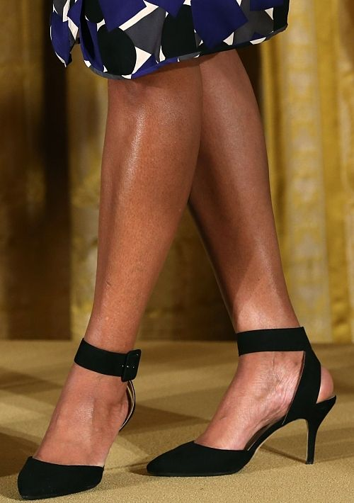 Mrs.O - Follow the Fashion and Style of Michelle Obama: Obama Shoes, Fashion Shoes, Shoes And Bags, Ankle Strap Pumps, First Lady Style, Pumps Michelle, Classy Shoes, Obama Pumps, Obama S Shoes
