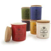 Italian spice jars.