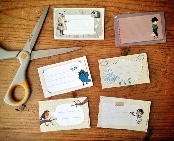 Hello June: DIY : les étiquettes de la rentrée
