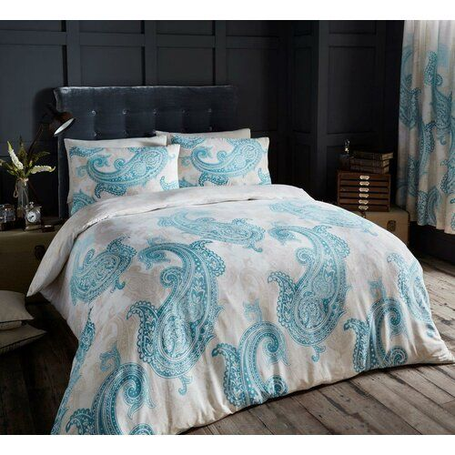 Loreen Duvet Cover Set Bloomsbury Market Size Kingsize 5 Colour Blue White In 2020 Bed Duvet Covers Teal Bedding Sets Cool Beds