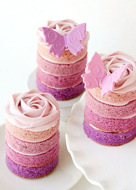 Make separate cake towers for your daughters birthday party! So cute!  (This link is in Chinese so good luck with the instructions!) :/