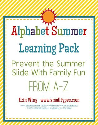 Small Types Alphabet Summer Learning Pack On sale for $3.60