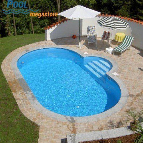 Stahlwandbecken Oval 150 Cm Tief Pool Schwimmbad