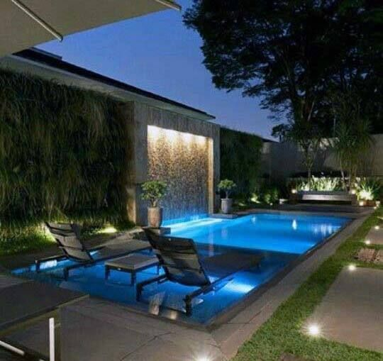 Top 60 Best Pool Waterfall Ideas Cascading Water Features Pool Houses Modern Pools Backyard Pool