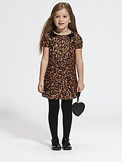 Gucci - Little Girl's Leopard Print Satin Dress
