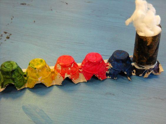 Chronicles of Maia: Arts-N-Crafts: Choo-Choo Train From Paper Tubes