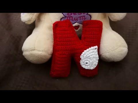 كروشيه حرف N ميداليه Crochet Letter N Medal Youtube Gloves