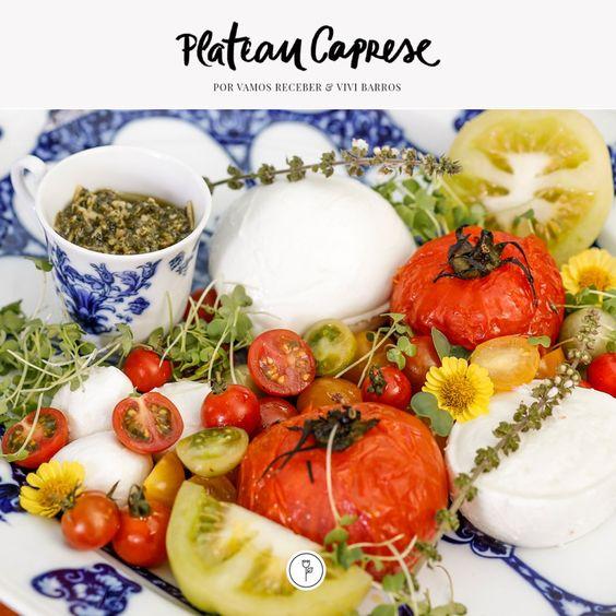 A salada Caprese é daquelas que todo mundo adora. Para deixar esse prato ainda mais charmoso e encantar as suas visitas, veja como servir de forma super charmosa.