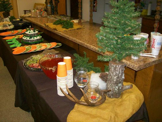 camo baby shower food table decorations hunting theme baby shower
