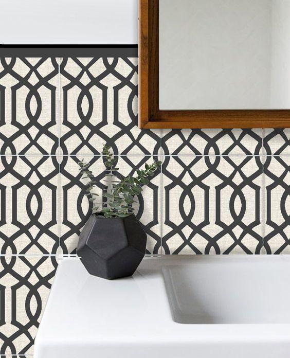 Tile Sticker Kitchen, bath, floor, wall Waterproof