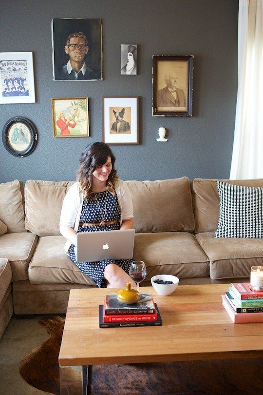 Fresh Start:  5 Things You Should Do Every January: Kids Apartment, Wall Colors, Apartment Therapy, Living Room, Grey Wall, Jamie, Kids Article, Tan Couch