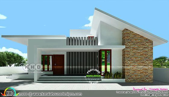 Contemporary 1200 Sq Ft Single Storied Home Kerala Home Design Kerala House Design Contemporary House Exterior Flat Roof House