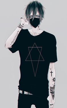 Image Result For Boy Drawing With Hoodie And Mask Cute Anime Guys Dark Anime Cute Anime Boy