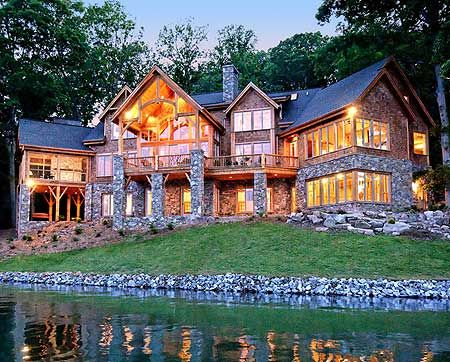 Plan 26600gg high end drama with bonus house plans for Luxury lake house plans