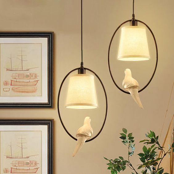Aliexpress.com: Comprar Mediterráneo solo pájaro colgante de luz estudio lámpara…