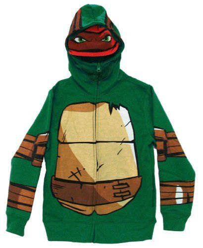Teenage Mutant Ninja Turtles Raphael Mask Costume Youth Zip Up Hoodie Hooded Sweatshirt Select Shirt Size: Youth X-Large Rock Rebel. $34.99