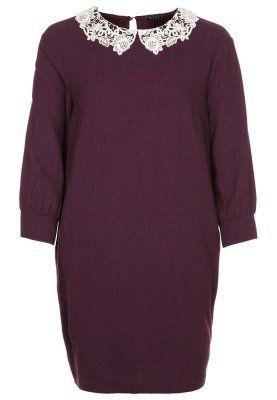 Sisley - Vestito con colletto in pizzo a contrasto
