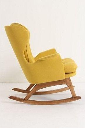 Sill n orejero mecedora amarillo imagenes pinterest sillas mecedoras y sillas - Sofa mecedora ...