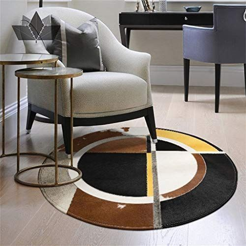 Cowhide Rug Leather 3ft 5ft In Diameter Cow Hide Patchwork Area Round Carpet 1000 In 2020 Cow Hide Rug Round Carpets Cow Hide