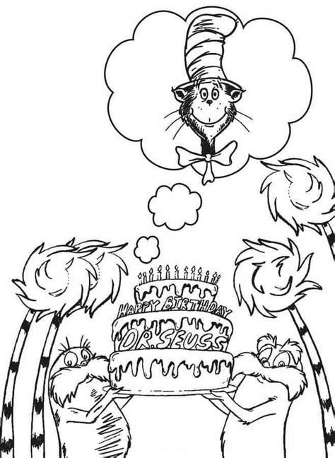 Image Result For Happy Birthday Dr Seuss Coloring Pages Dr Seuss Coloring Pages Dr Seuss Art Dr Seuss Coloring Sheet