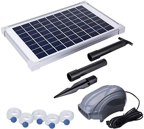Best Seller Solariver Solar Pond Aerator Dc Brushless Air Pump 10 Watt Solar Panel 5 Air Stones Sun Powered Oxygenation Fish Ponds Aquaculture Hydroponic In 2020 Pond Aerator Aerator Solar Pond