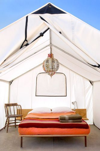 Go glamping in a safari tent at El Cosmico in Marfa, Texas
