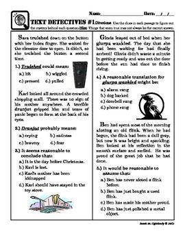 math worksheet : context clues fun ish multiple choice text evidence worsheet  : Multiple Choice Context Clues Worksheets