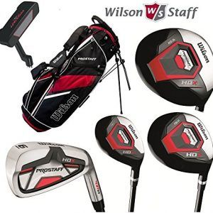 Wilson Prostaff All Graphite Shafted HDX Complete Golf Club Set & Stand Bag…