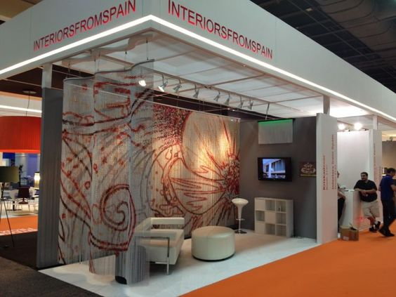 Beautiful Our Booth In #HDExpo In #LasVegas. #curtains #interior #design | Booth/  Stands / Events | Pinterest