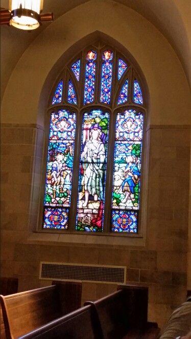 Chapel window, Boy's Town, Omaha