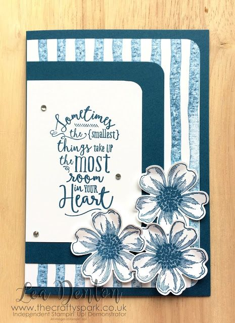 Layering Love with Flowers in Dapper Denim - Part of the In Color 2016-2018 Club Design Series  Stampin' Up! Demonstrator Lea Denton -Layering Love with Flowers in Dapper Denim - Part of the In Color 2016-2018 Club Design Series  In Color Club 2016-2018 Design Series? Which is what I hear you say! Well it's a club I started for my customers when the new Stampin' Up! Annual Catalogue was launched to help them spread the cost of buying all the fab new In Color coordinated products. Each month…