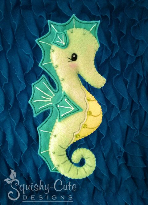Seahorse Sewing Pattern PDF Ocean Stuffed by SquishyCuteDesigns, $5.00