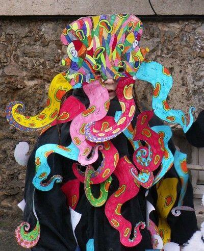 Masque de poulpe th me de la mer pinterest google et recherche - Idee pour le carnaval ...