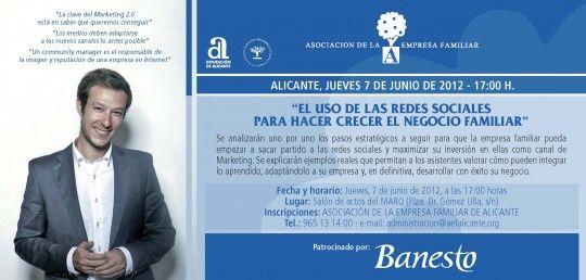 """""""El Uso de las Redes Sociales para hacer crecer el Negocio Familiar""""   (7 de junio de 2012)"""