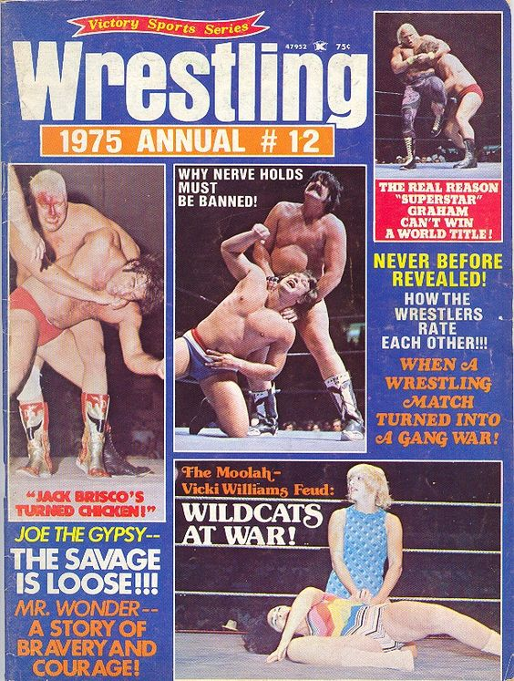 Wrestling 1975 ANNUAL #12 ~ Jack Brisco Vicki Williams, Cuban Assassins +++