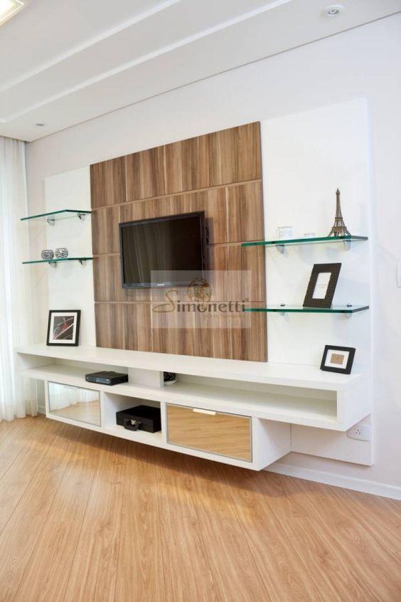 Painel  Decoração  Pinterest  Casa, TVs e Teatro