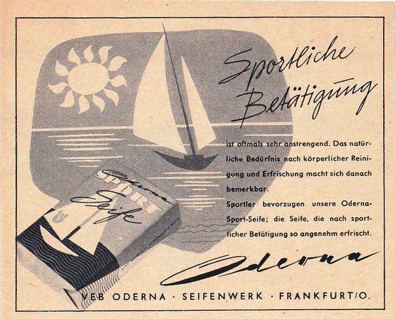 Oderna Seife Seifenwerk Frankfurt Oder DDR 1959