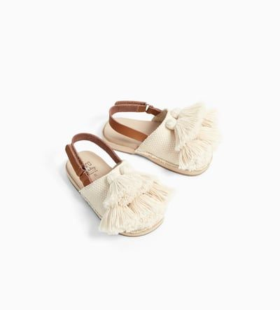 Fabric Tassel Clogs Shoes Baby Girl 3 Months 4 Years Kids Zara United States Cute Baby Shoes Baby Girl Shoes Baby Girl Outfits Newborn