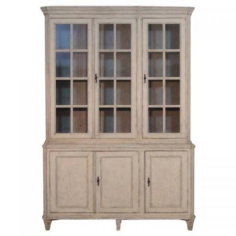 Swedish Gustavian Period Vitrine Cabinet from Maison & Co.