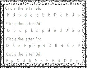 Mrs. Black's Bees: Free Letter B and D discrimination